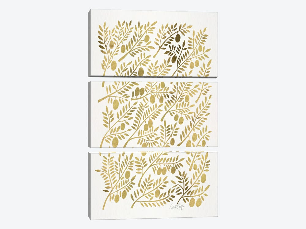 Olive Branches I by Cat Coquillette 3-piece Canvas Print