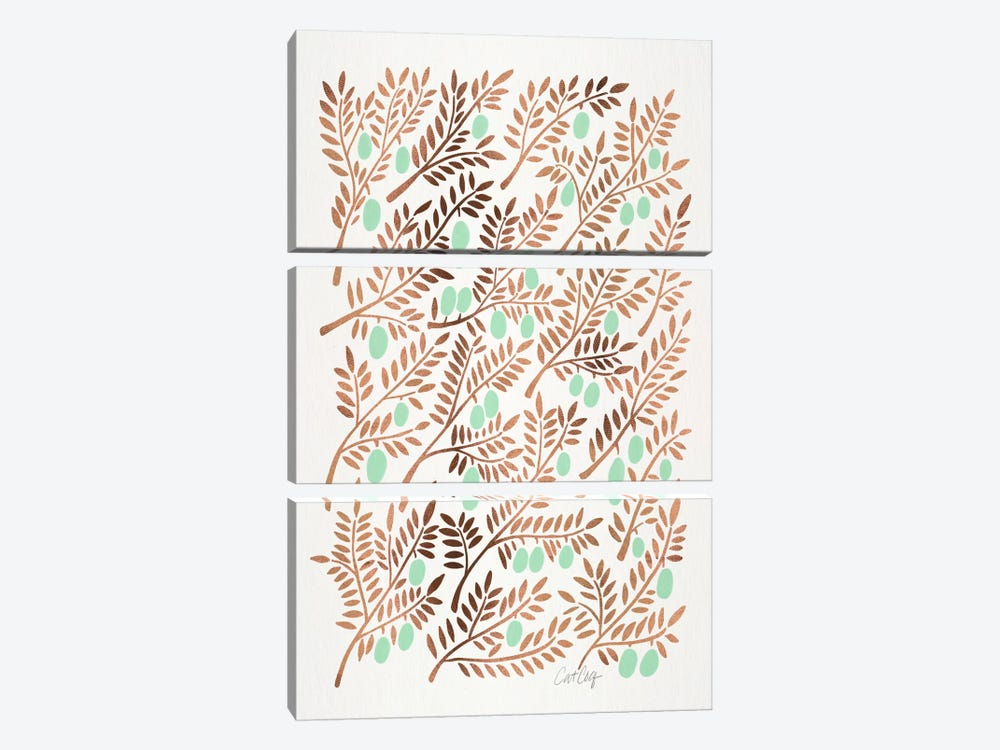 Olive Branches III by Cat Coquillette 3-piece Canvas Print