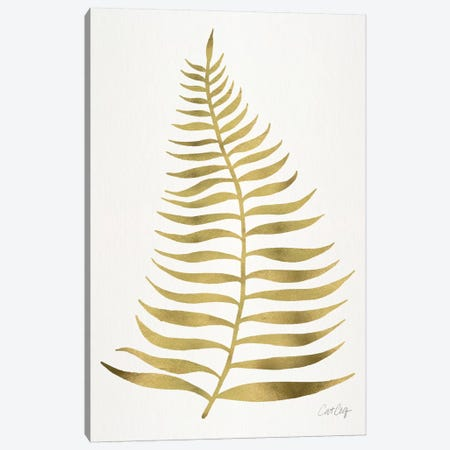 Palm Leaf I Canvas Print #CCE234} by Cat Coquillette Canvas Art Print