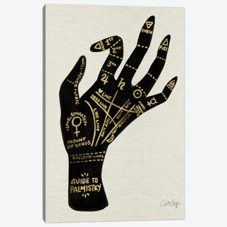 Palmistry I Canvas Print #CCE235} by Cat Coquillette Canvas Art Print