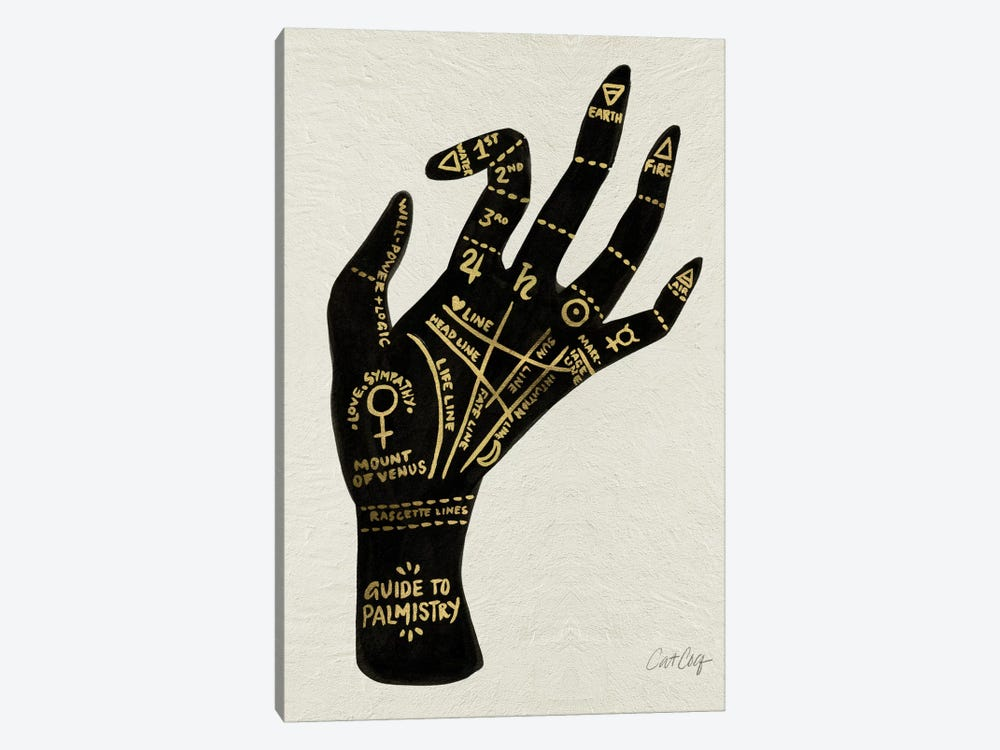 Palmistry I by Cat Coquillette 1-piece Canvas Print