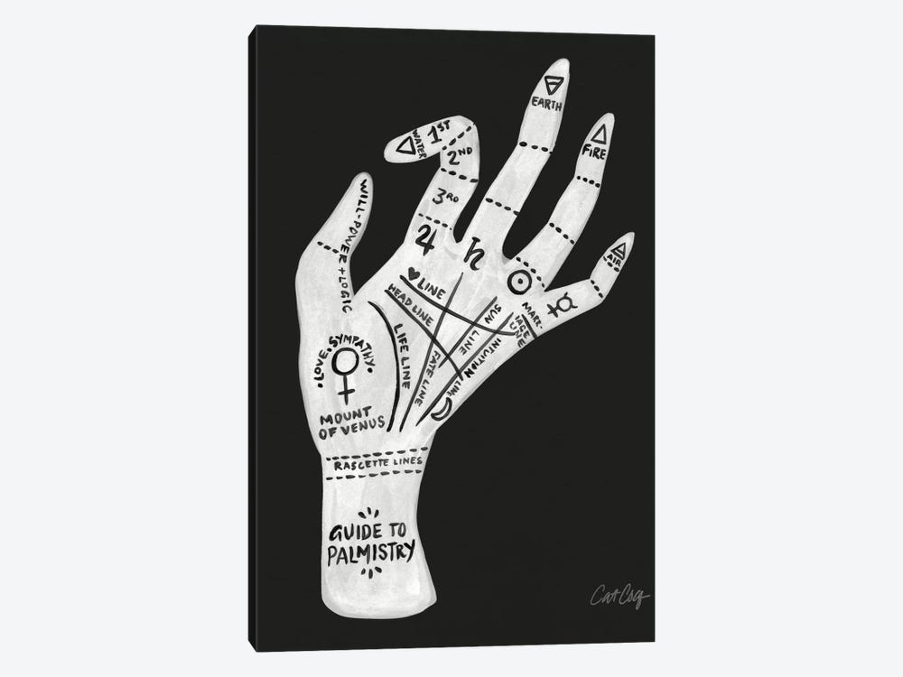 Palmistry II by Cat Coquillette 1-piece Canvas Artwork