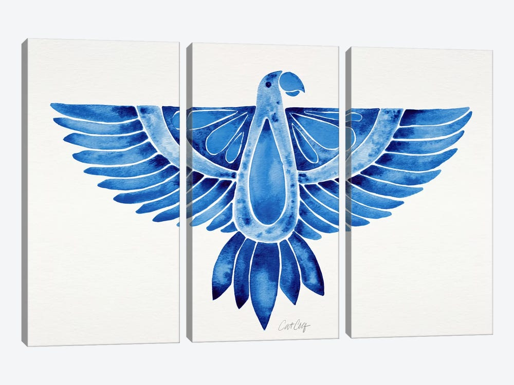 Parrot I by Cat Coquillette 3-piece Canvas Print