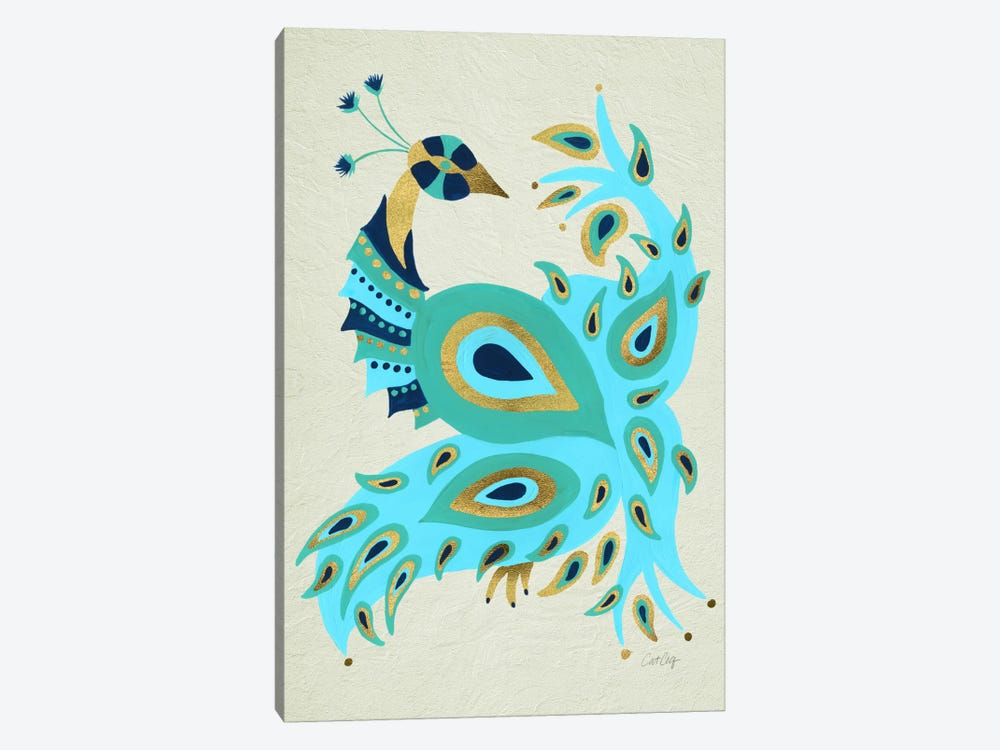 Peacock I by Cat Coquillette 1-piece Canvas Art