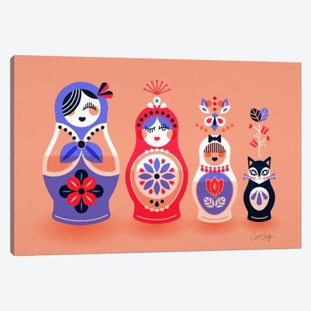 Russian Dolls I Canvas Print #CCE244} by Cat Coquillette Canvas Artwork