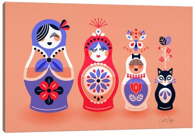 Russian Dolls I Canvas Print #CCE244