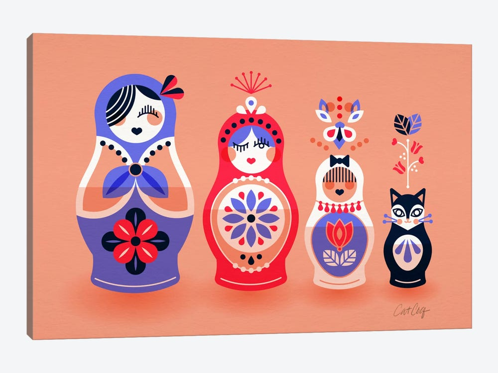 Russian Dolls I by Cat Coquillette 1-piece Art Print