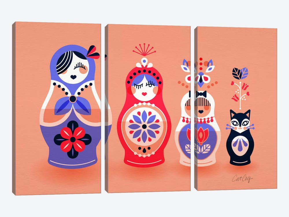 Russian Dolls I by Cat Coquillette 3-piece Art Print
