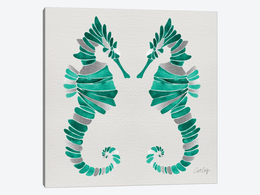 Seahorse Duo II by Cat Coquillette 1-piece Canvas Art