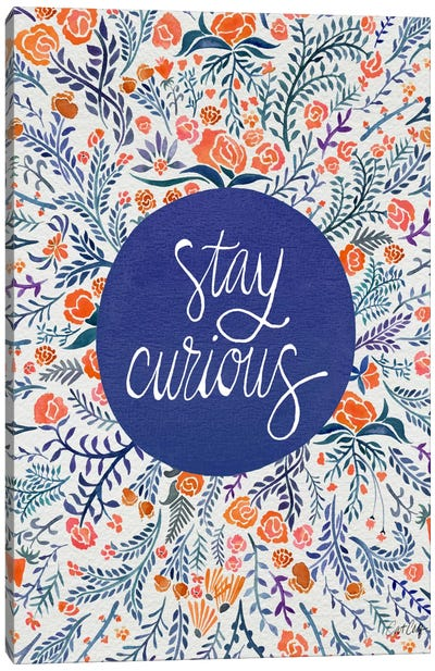 Stay Curious I Canvas Print #CCE253