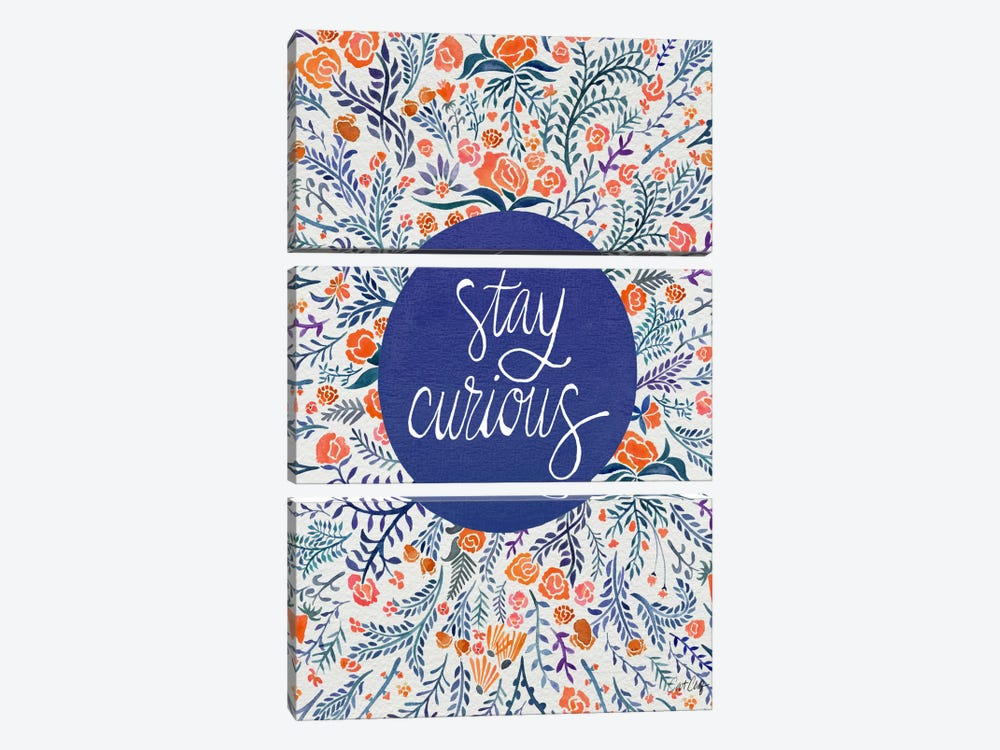 Stay Curious I by Cat Coquillette 3-piece Canvas Print