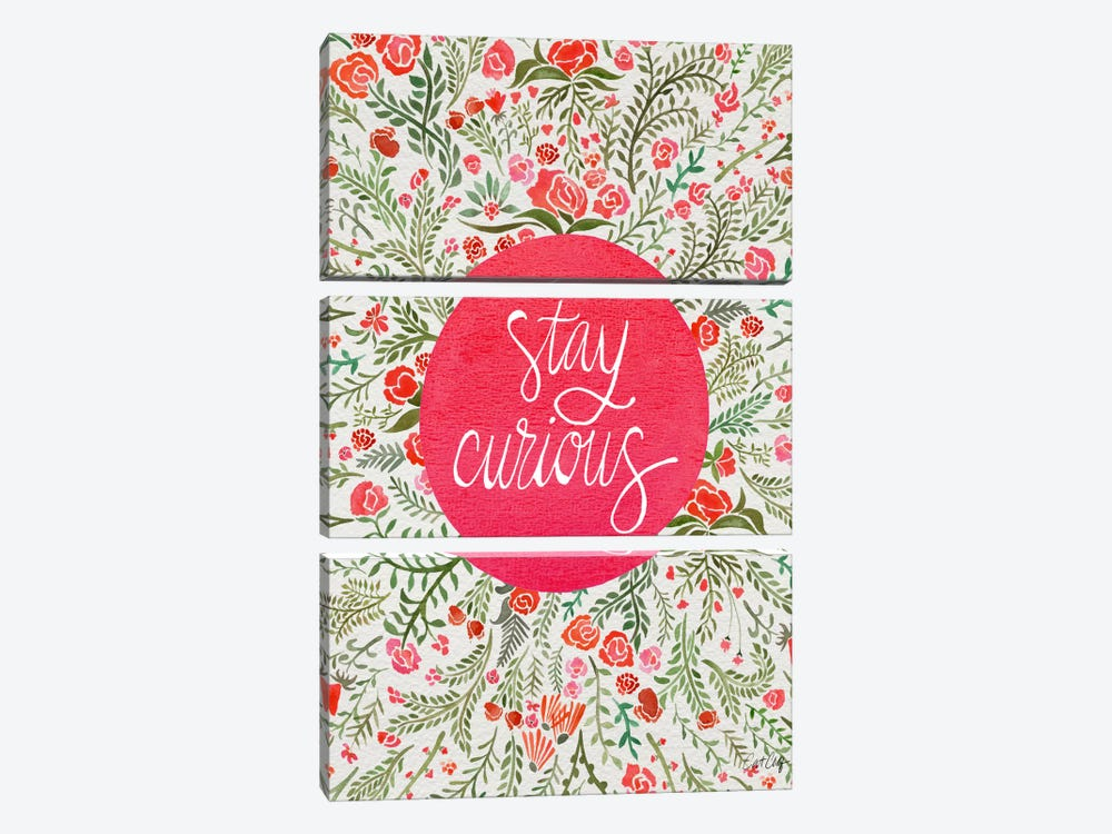 Stay Curious II by Cat Coquillette 3-piece Canvas Artwork