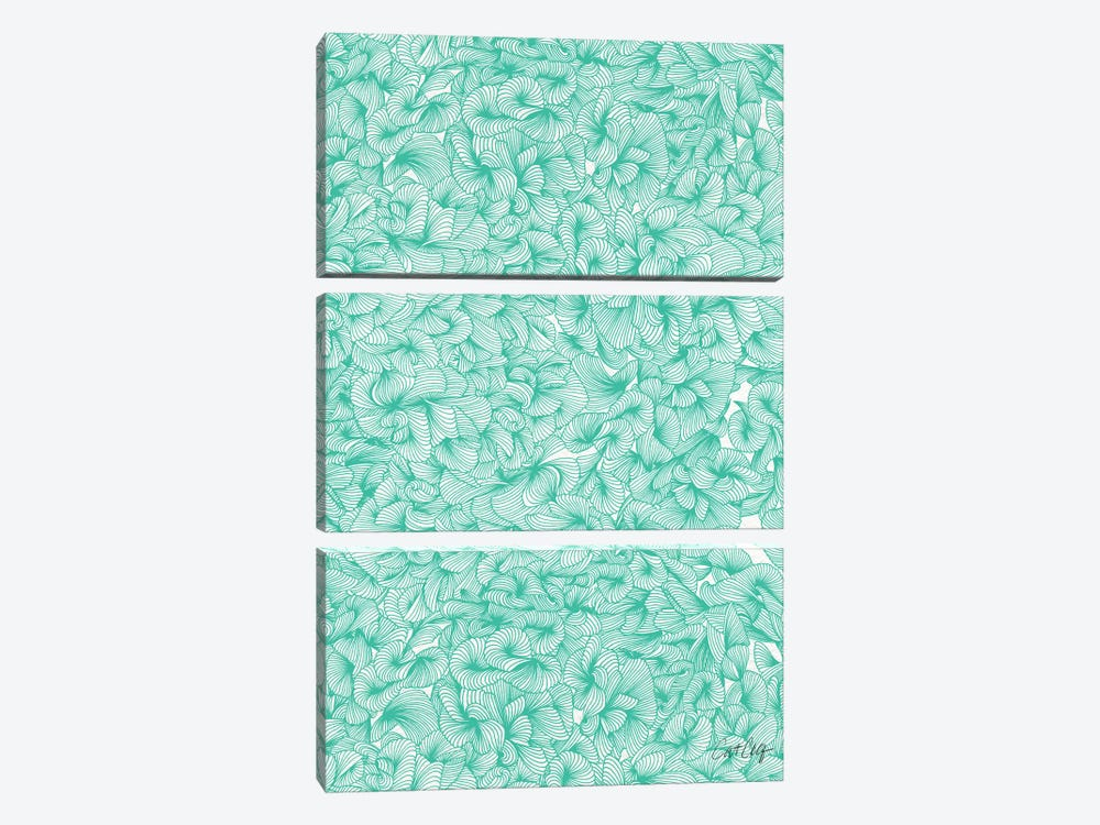 Abstract Pattern Turquoise Artprint by Cat Coquillette 3-piece Canvas Art