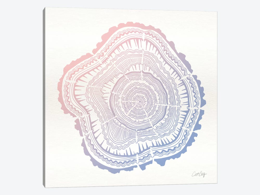 Tree Rings I by Cat Coquillette 1-piece Canvas Art Print
