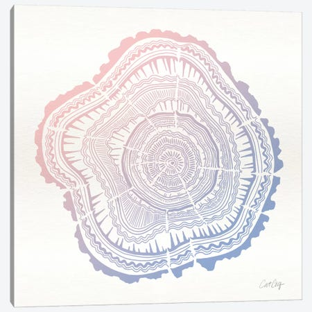 Tree Rings I Canvas Print #CCE260} by Cat Coquillette Art Print