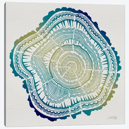 Tree Rings V Canvas Print #CCE264} by Cat Coquillette Canvas Wall Art