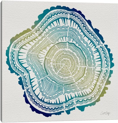 Tree Rings V Canvas Art Print