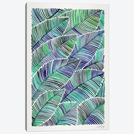 Tropical Leaves II Canvas Print #CCE266} by Cat Coquillette Canvas Artwork