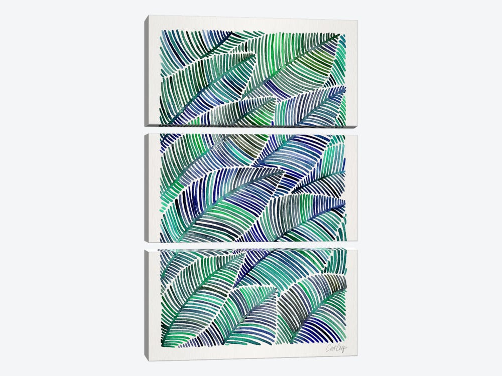 Tropical Leaves II by Cat Coquillette 3-piece Canvas Print