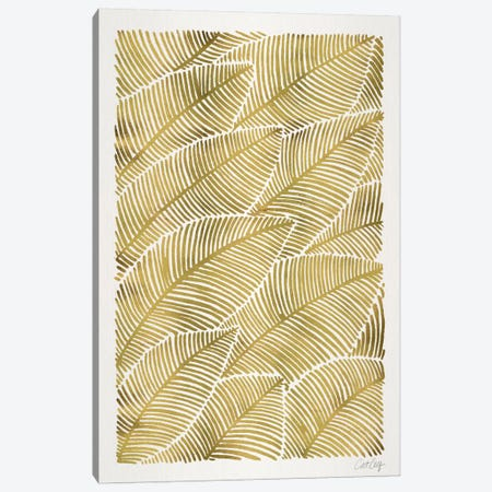 Tropical Leaves III Canvas Print #CCE267} by Cat Coquillette Canvas Art