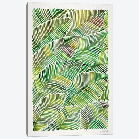 Tropical Leaves IV Canvas Print #CCE268} by Cat Coquillette Canvas Art Print