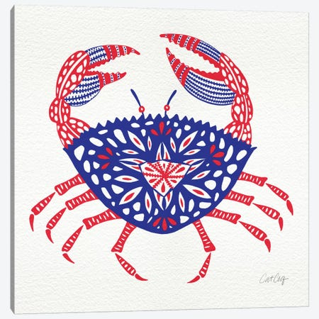 America Crab Artprint Canvas Print #CCE26} by Cat Coquillette Canvas Print