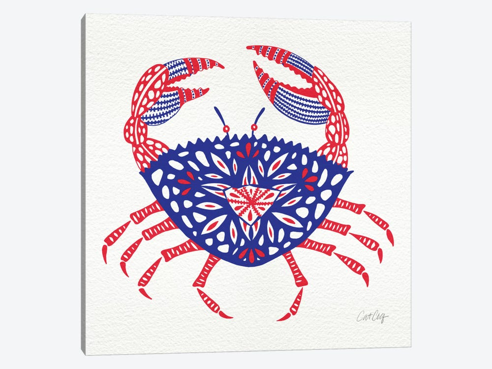 America Crab Artprint by Cat Coquillette 1-piece Canvas Print