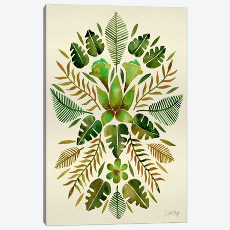 Tropical Symmetry II Canvas Print #CCE270} by Cat Coquillette Canvas Wall Art