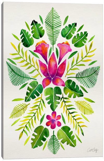 Tropical Symmetry III Canvas Art Print