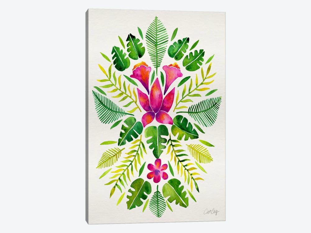 Tropical Symmetry III by Cat Coquillette 1-piece Canvas Print