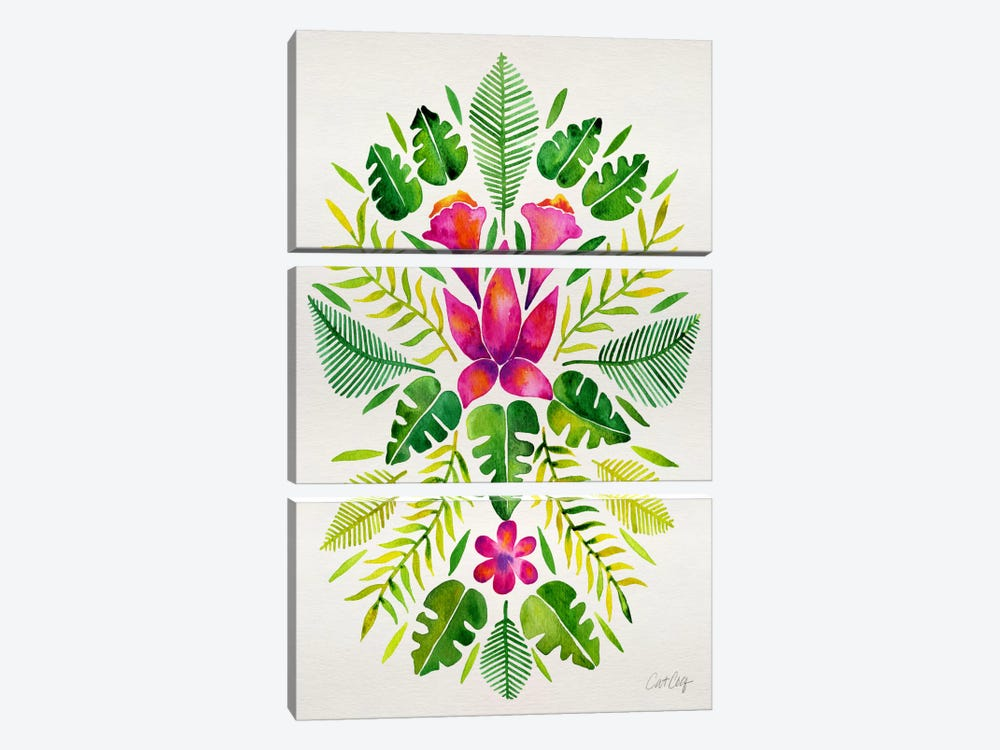 Tropical Symmetry III by Cat Coquillette 3-piece Art Print