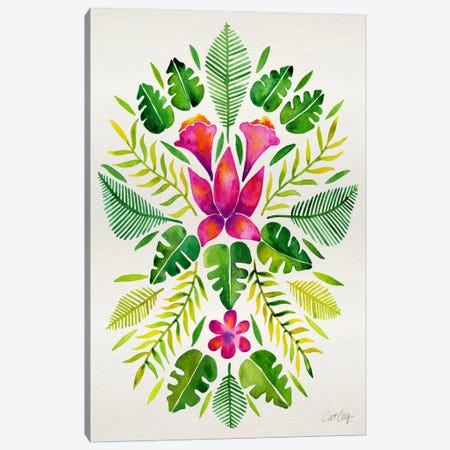 Tropical Symmetry III Canvas Print #CCE271} by Cat Coquillette Canvas Wall Art