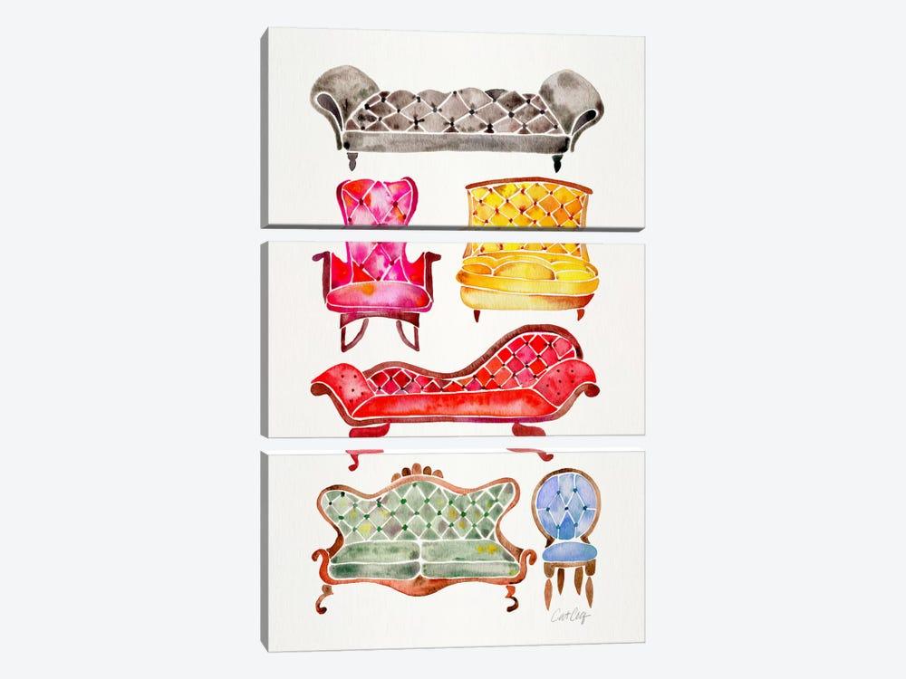Victorian Lounge II by Cat Coquillette 3-piece Art Print
