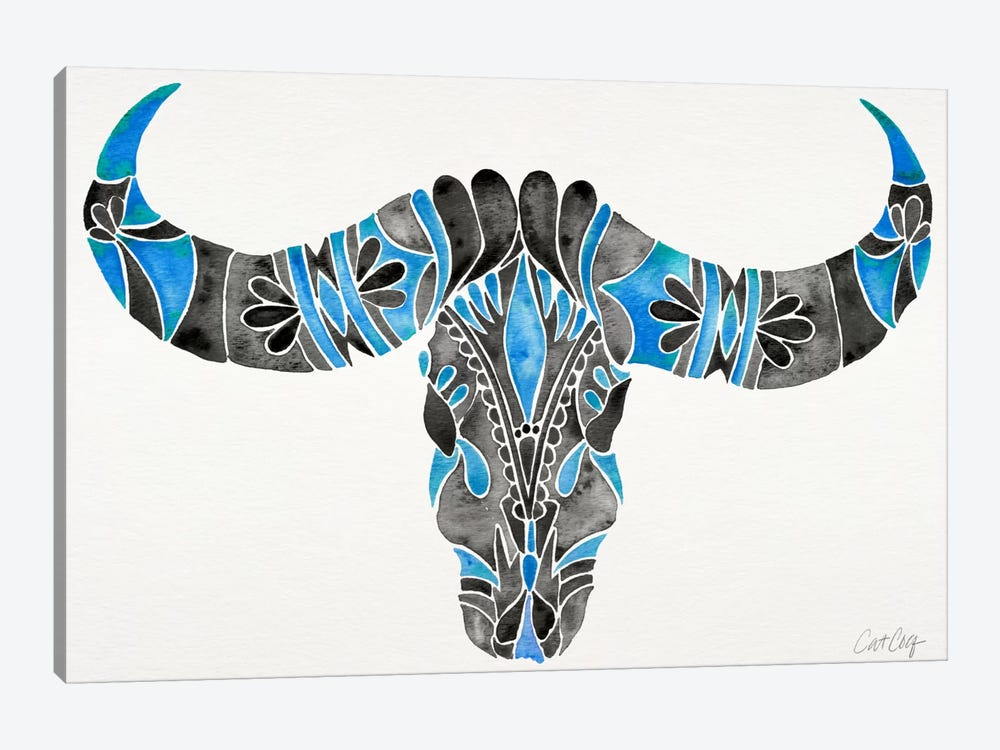 Water Buffalo Skull I by Cat Coquillette 1-piece Canvas Print