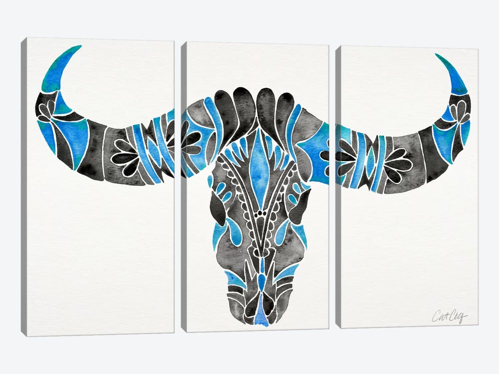 Water Buffalo Skull I by Cat Coquillette 3-piece Art Print