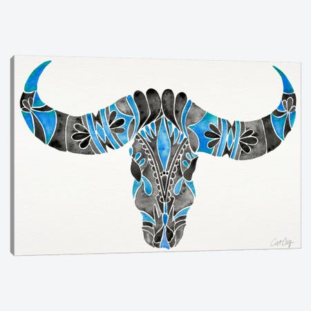 Water Buffalo Skull I Canvas Print #CCE275} by Cat Coquillette Art Print