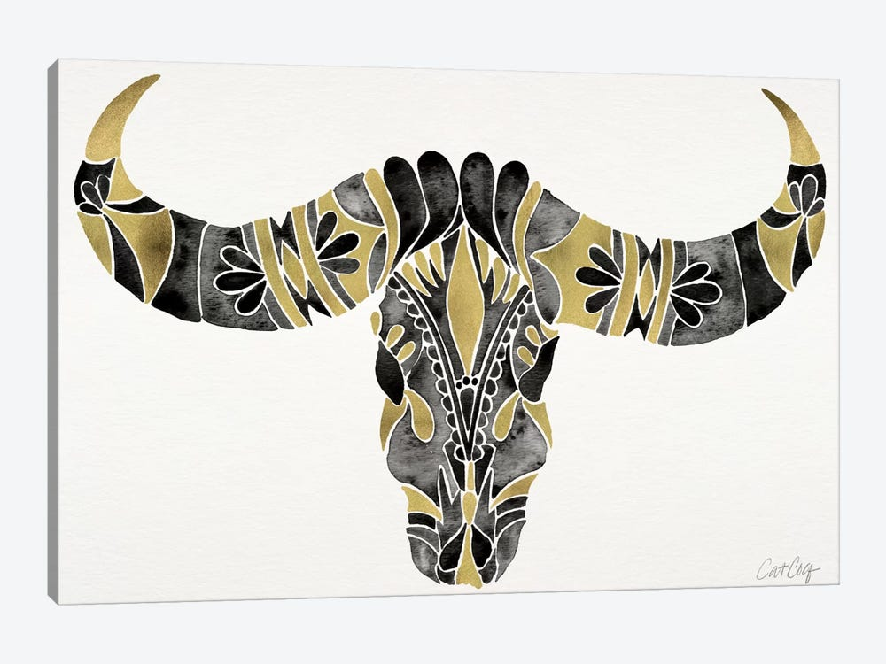 Water Buffalo Skull IV by Cat Coquillette 1-piece Canvas Art
