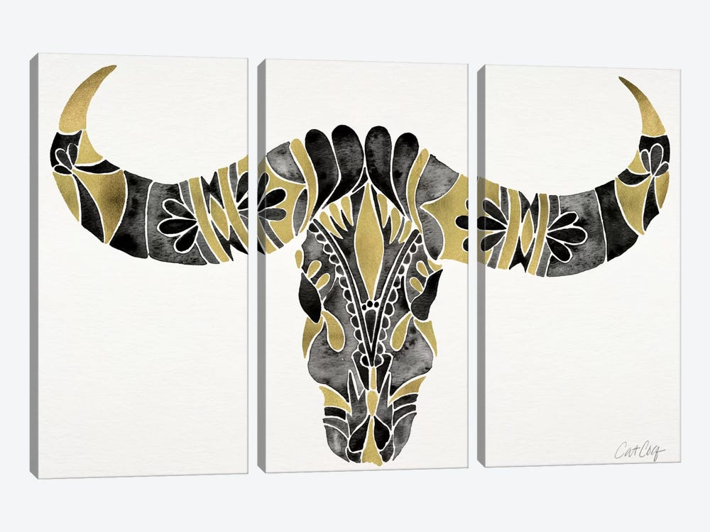 Water Buffalo Skull IV by Cat Coquillette 3-piece Canvas Art