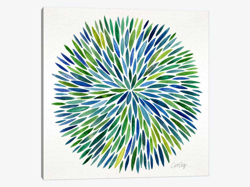 Watercolor Burst I by Cat Coquillette 1-piece Canvas Print