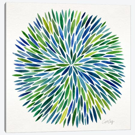 Watercolor Burst I Canvas Print #CCE279} by Cat Coquillette Canvas Wall Art