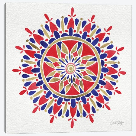 America Mandala Artprint Canvas Print #CCE27} by Cat Coquillette Art Print
