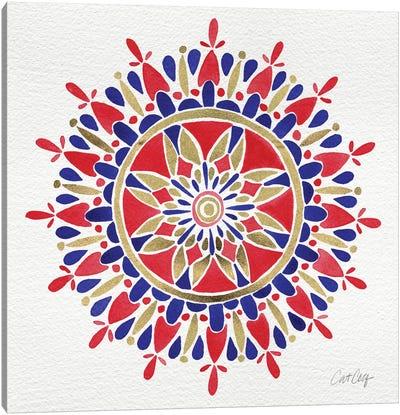 America Mandala Artprint Canvas Print #CCE27