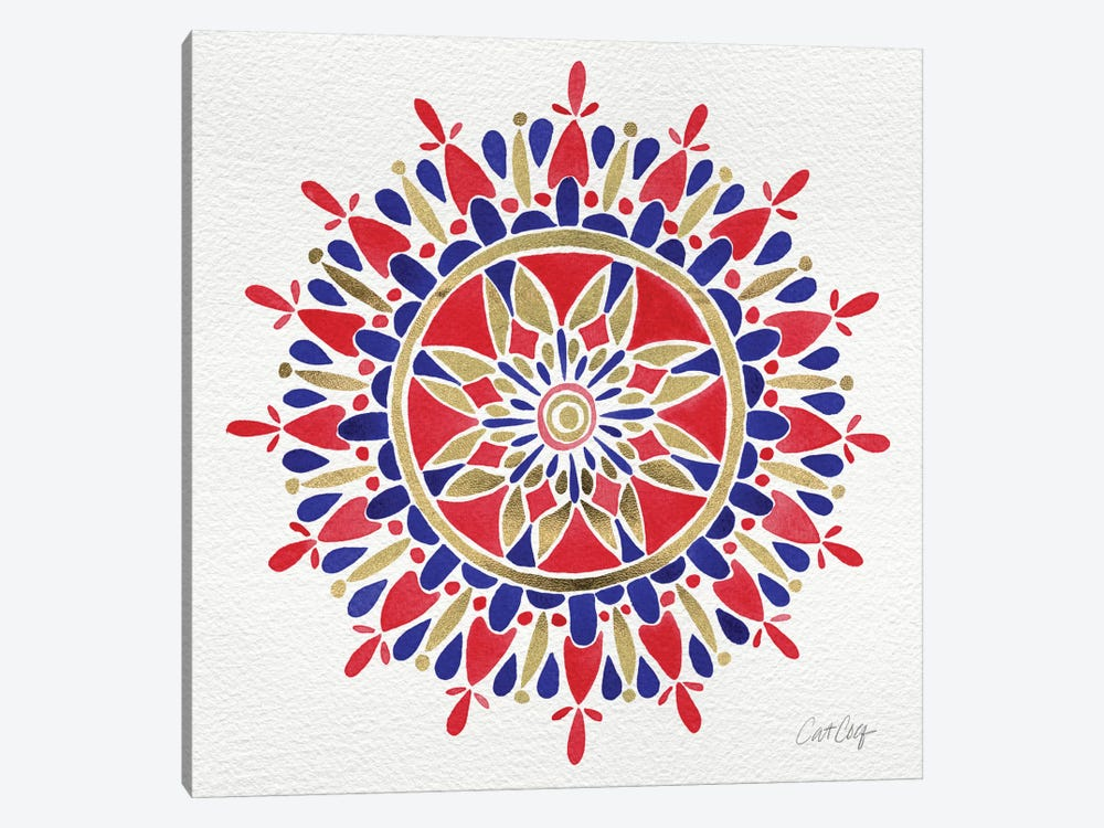 America Mandala by Cat Coquillette 1-piece Canvas Wall Art