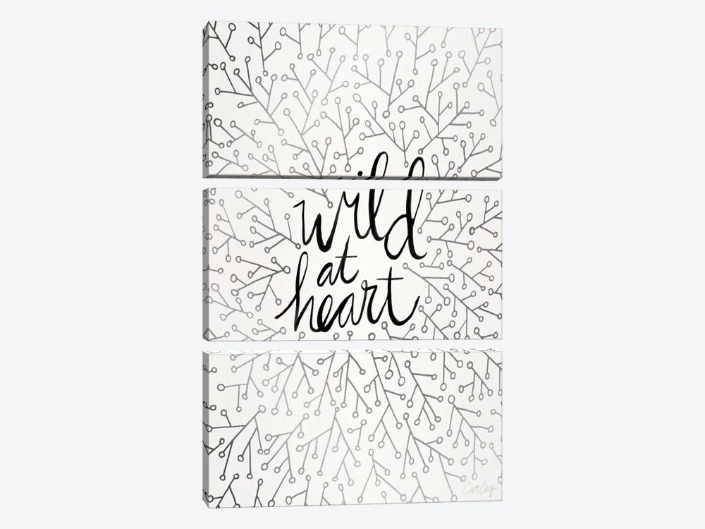 Wild At Heart II by Cat Coquillette 3-piece Canvas Artwork