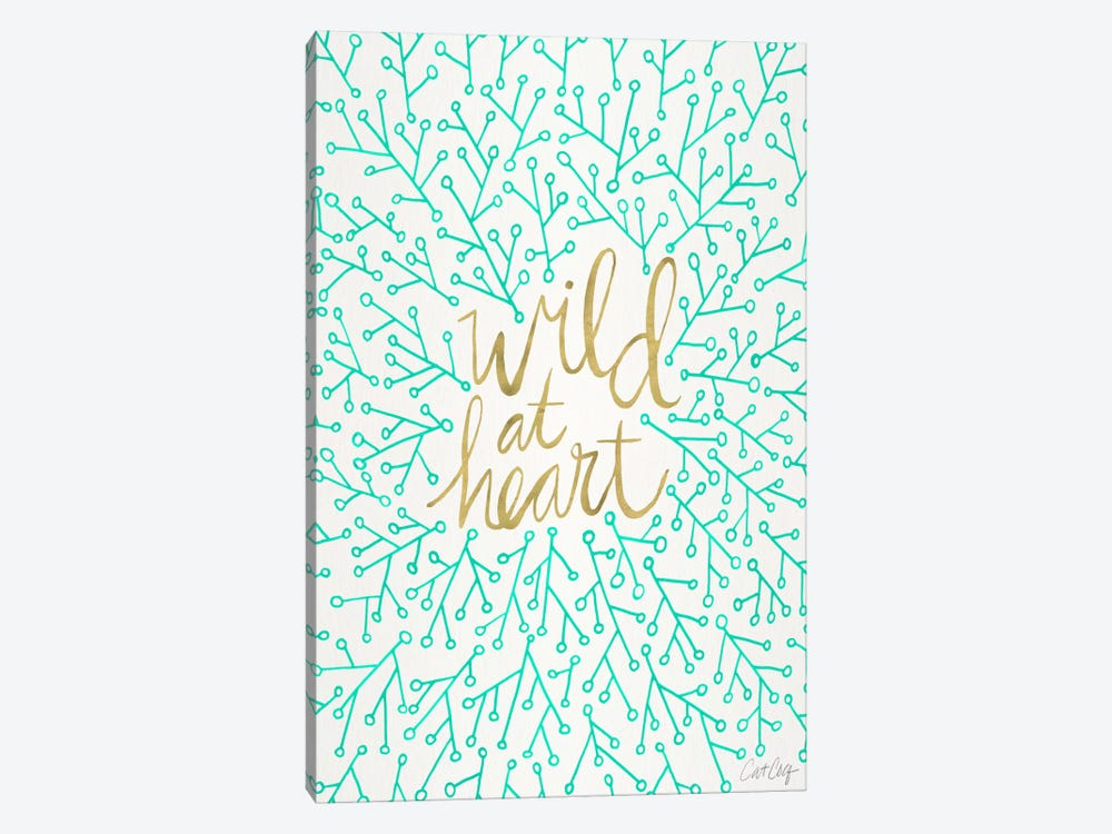 Wild At Heart III by Cat Coquillette 1-piece Canvas Print