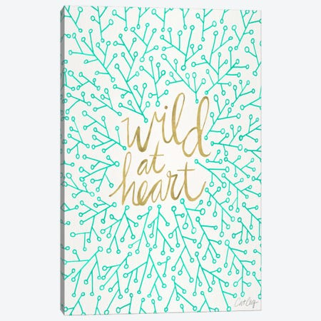 Wild At Heart III Canvas Print #CCE284} by Cat Coquillette Canvas Art