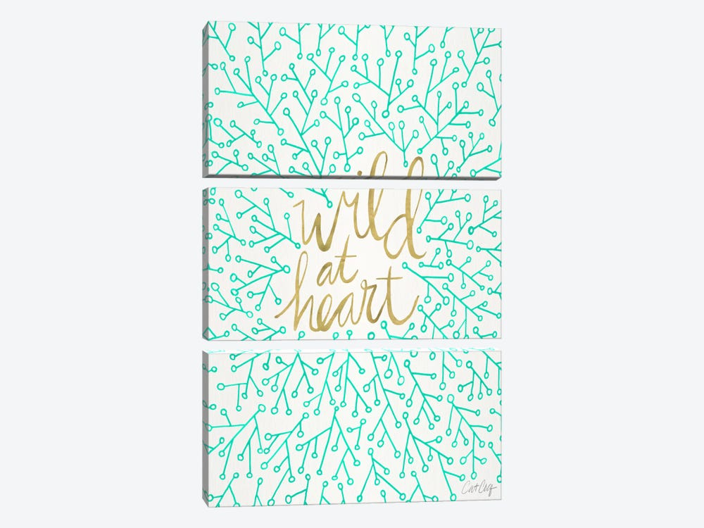 Wild At Heart III by Cat Coquillette 3-piece Canvas Art Print