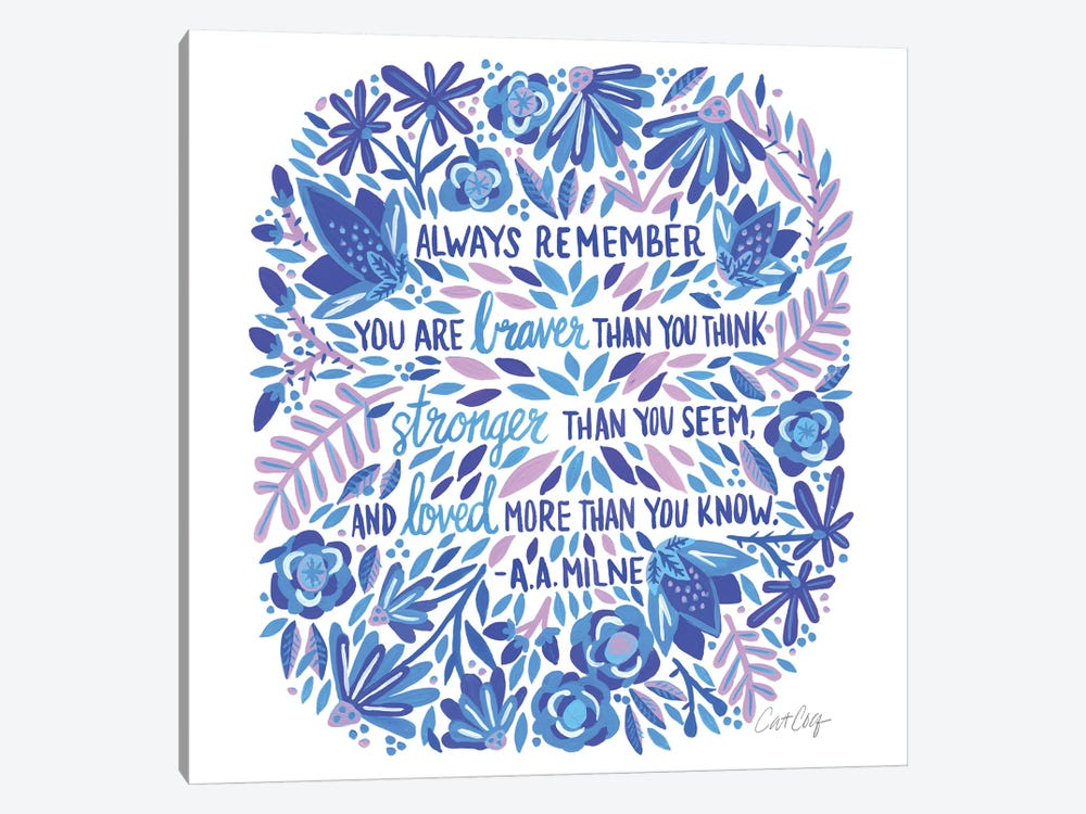 Always Remember, Indigo 1-piece Art Print