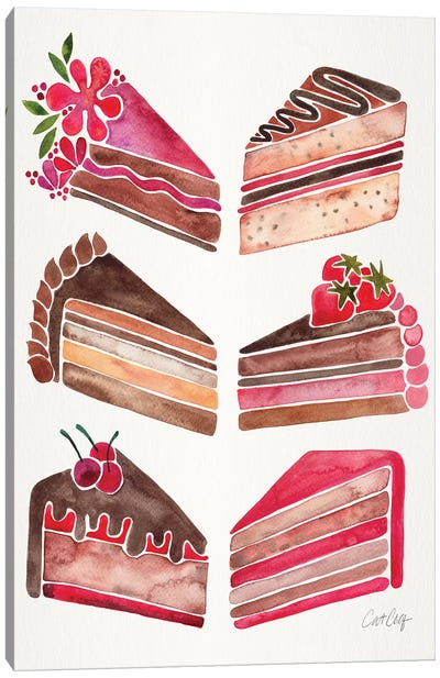 Cake Slices, Original Canvas Art Print