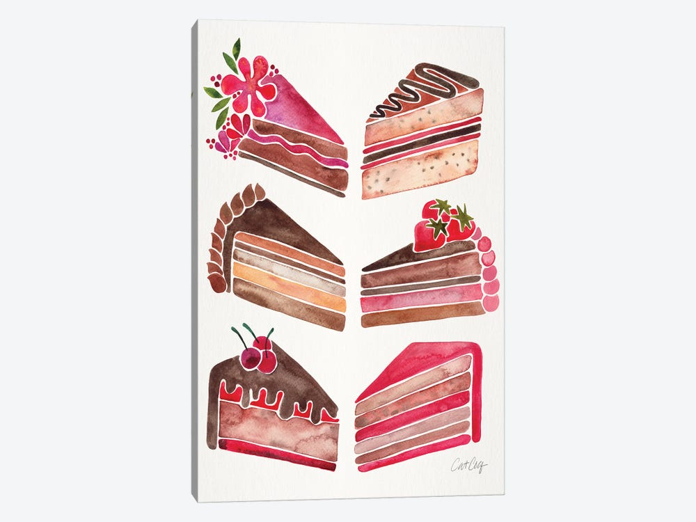 Cake Slices, Original by Cat Coquillette 1-piece Art Print